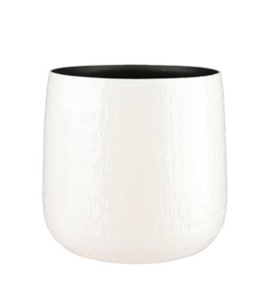 Floyd pot round white - 12.5x11.75""