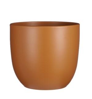 "Tusca pot round brown - 12.25x11.25"""