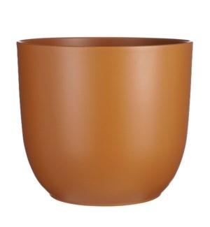 "Tusca pot round brown - 13.75x12.5"""