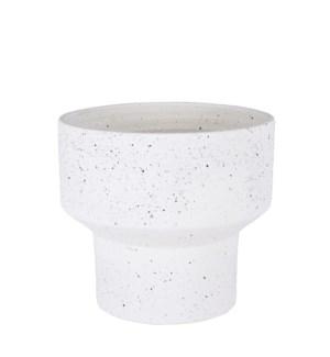 """Pietra pot round beige - 11x9.75"""""""