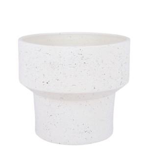"""Pietra pot round beige - 14.5x12.5"""""""
