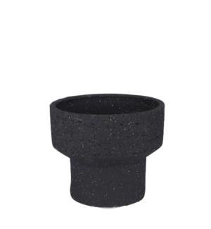 "Pietra pot round anthracite - 9x8"""