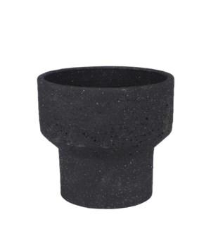 "Pietra pot round anthracite - 11x9.75"""
