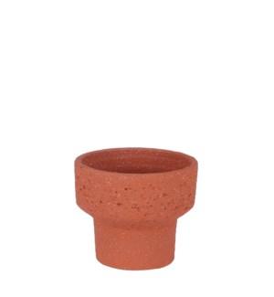 "Pietra pot round terra - 7.5x6.75"""