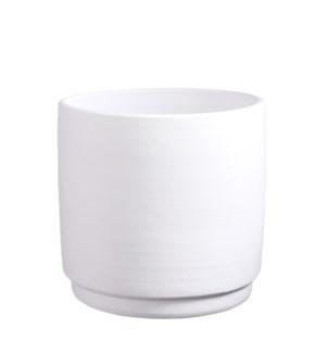 """Saar pot round white - 12.5x12.25"""""""