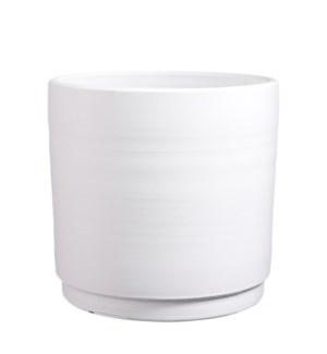 """Saar pot round white - 15x14.5"""""""
