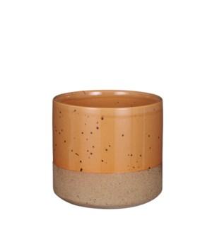 """Lago pot round brown - 6.25x5.75"""""""