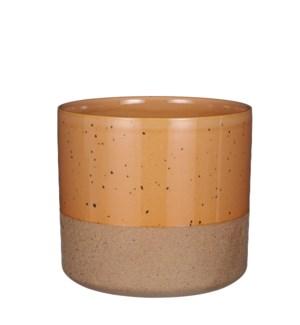 """Lago pot round brown - 8x7.25"""""""