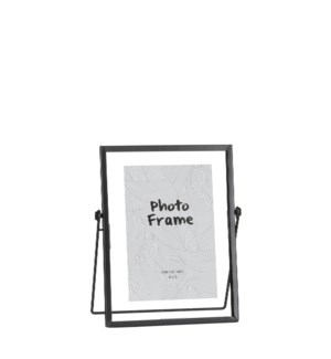 "Aimee picture frame black - 6.75x2.75x8"""