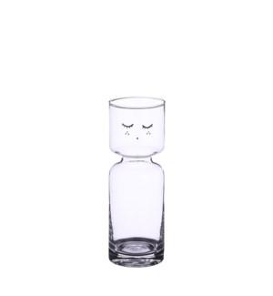 "Vase glass - 2.75x8"""