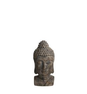 """Buddha grey - 9x10.25x19"""""""