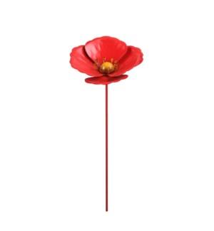 "Garden stake poppy red - 6x37.5"""