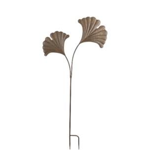 "Zaza garden stake leaf d. brown - 22.75x49.25"""