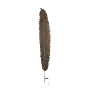 """Yuto garden stake leaf d.brown - 11.5x74"""""""