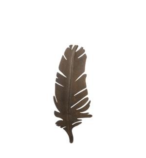 """Yara walldecoration Leaf d. brown - 13x33.5"""""""