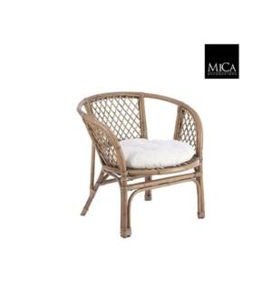 """Soto chair with cushion l. brown - 28.5x28x28.5"""""""