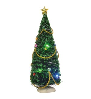 Christmas tree with lights battery operated - 9""