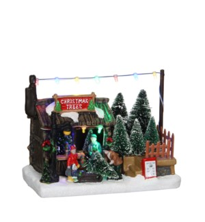 Tree shop battery operated - 7x4.25x5.5""