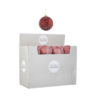 Ornament ball red display - 4""