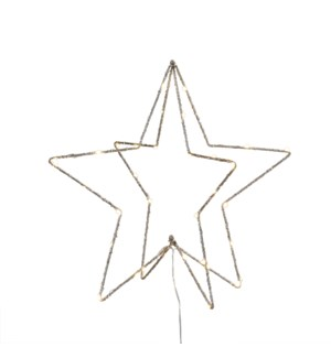 Star champagne battery operated - 15.75x15.75""