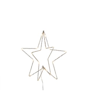 Star champagne battery operated - 11.75x11.75""