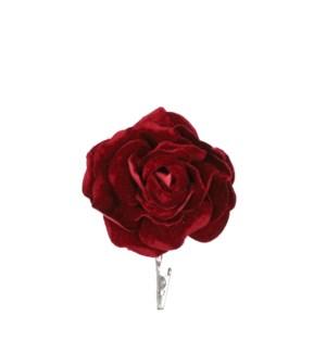 """Clip rose bordeaux - 4.75x7"""""""
