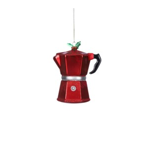 """Ornament coffeepot red - 1.5x1x1.5"""""""