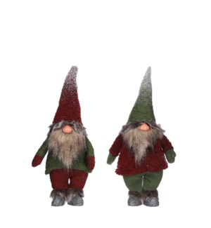 Doll gnome d. red green 2 assorted - 8x4.75x17.75""