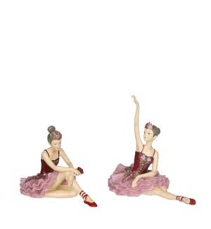 "Ballerina pink 2 assorted - 7.25x4x7"""