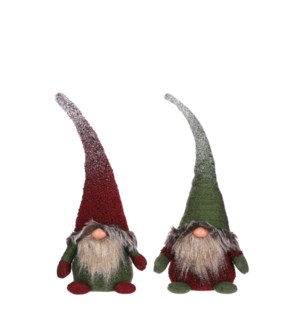 """Doll gnome d. red green 2 assorted - 6.75x4.25x18"""""""