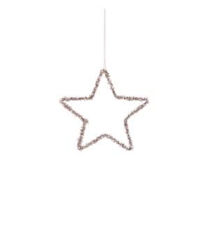 """Ornament star champagne - 6"""""""