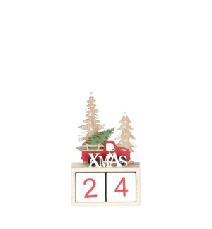 Advent calender xmas red - 4.25x2x6.75""