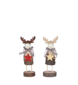 Deer red gold 2 assorted - 3x2.25x8""