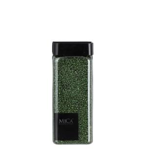 "Granulate glitter d. green 550ml - 3x3x6.25"""