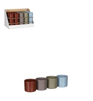 """Era pot round 4 assorted relief display - 2.75x2.75"""""""