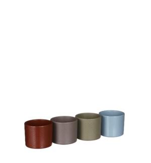 """Era pot round 4 assorted relief display - 4x3.5"""""""