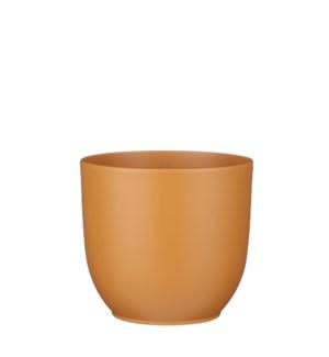 "Tusca pot round brown matt - 8.75x8"""