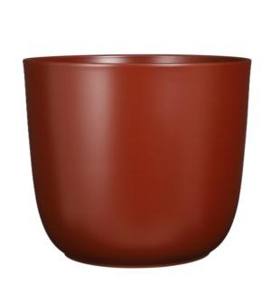 "Tusca pot round d. brown matt - 15.25x13.5"""
