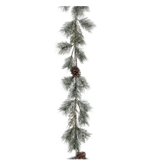 """Garland pine cone green frosted - 71x8x4"""""""