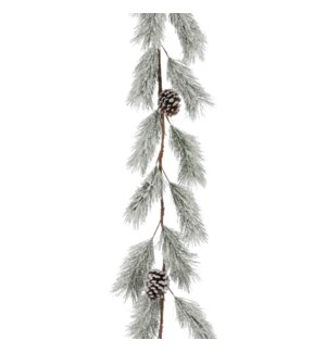 """Garland pine cone white frosted - 71x8x4"""""""