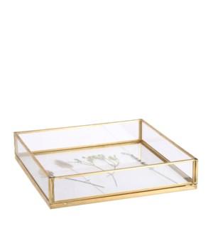 """Gloria tray gold - 8x8x1.5"""""""