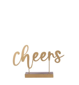 """Decoration CHEERS gold - 11.75x2.25x7.5"""""""