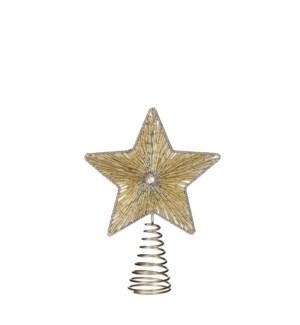 """Treetop star gold - 7x2.25x9.5"""""""