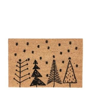 """Doormat tree brown - 23.75x15.75"""""""
