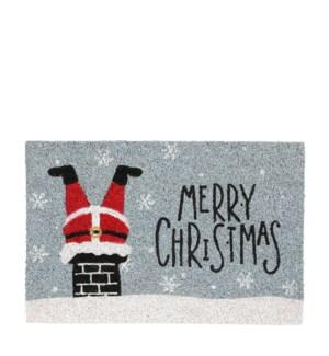 "Doormat Merry Christmas l. blue - 23.75x15.75"""
