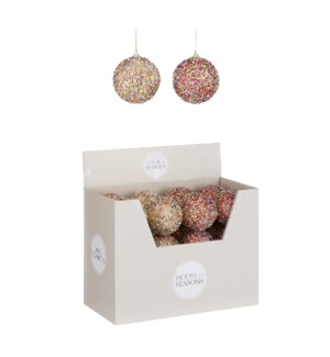 """Bauble unbreakable red gold 2 assorted display - 3.25x3.25"""""""