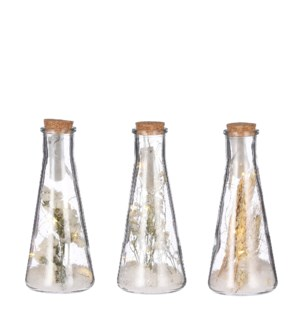 """Jar snow brown 3 assorted battery operated - 3.25x8"""""""