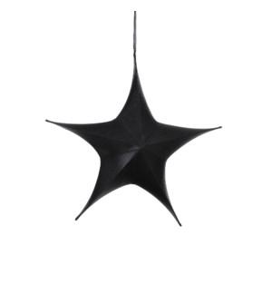 "Star hanging black - 25.5x8x25.5"""