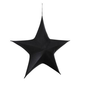 "Star hanging black - 31.5x10.25x29.5"""