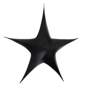 "Star hanging black - 43.25x13.5x37.5"""